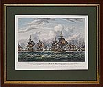 A representation of the obstinate Engagement between British Squadron and the Dutch Squadron 5th of August 1781