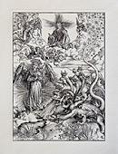 Жена, облеченная в солнце, и дракон о семи головах.