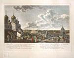 Вид Москвы снятый с императорского дворца по левую сторону, 1797г. по рисунку Ж. Делабарда.
