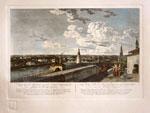 Вид Москвы снятый с балкона Императорского дворца по правую сторону по рисунку Ж. Делабарда, 1797 г.