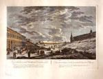 Вид ледяных гор в Москве во время сырной недели (Масленицы) по рисунку Ж. Делабарда,1794г.