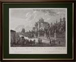 """""""Вид Моховой и дома Г. Пашкова"""" по рисунку Ж. Делабарда, 1795 г."""