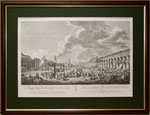 Вид Старой Красной Площади в Москве по рисунку Ж. Делабарда ,1795г.