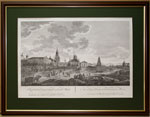 Вид Спасских ворот и окружностей в Москве по рисунку Ж. Делабарда, 1795г.