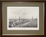 Вид Москвы с балкона Императорского дворца по правую сторону.