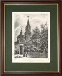 Вид  Вознесенского монастыря в Кремле. 1830 г.