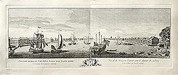 Проспект вверх по реке Неве от Адмиралтейства и Академии Наук к востоку